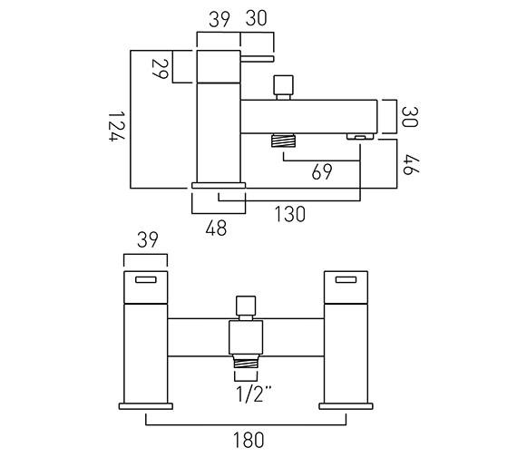 Technical drawing QS-V37080 / TE-130-C/P