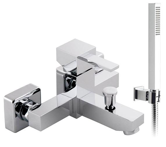 Vado Te Wall Mounted Exposed Bath Shower Mixer Tap - TE-123+K