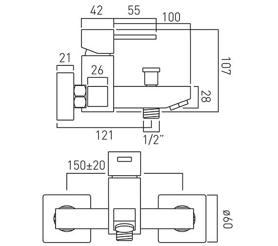 Technical drawing QS-V37082 / TE-123-C/P