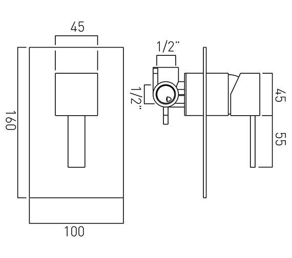 Technical drawing QS-V37085 / TE-145A-C/P