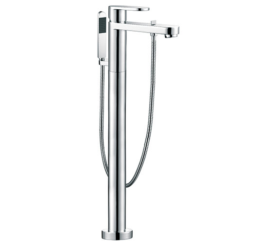 Vado Life Floor Mounted Bath Shower Mixer Tap With Kit - LIF-133+K