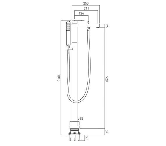 Technical drawing QS-V37098 / LIF-133+K-C/P