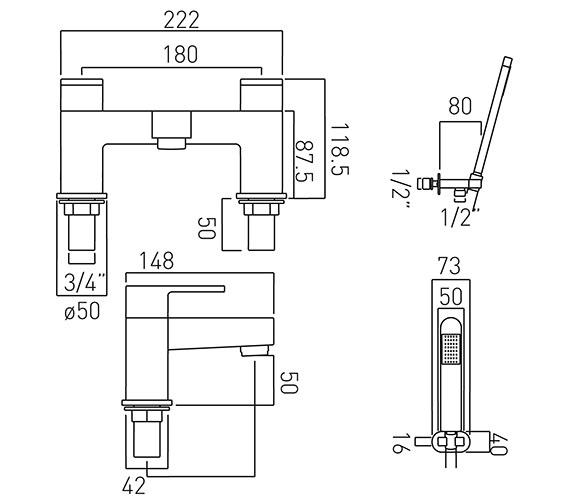 Technical drawing QS-V37104 / LIF-130+K-C/P