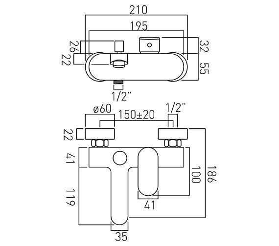 Technical drawing QS-V37106 / LIF-123-C/P