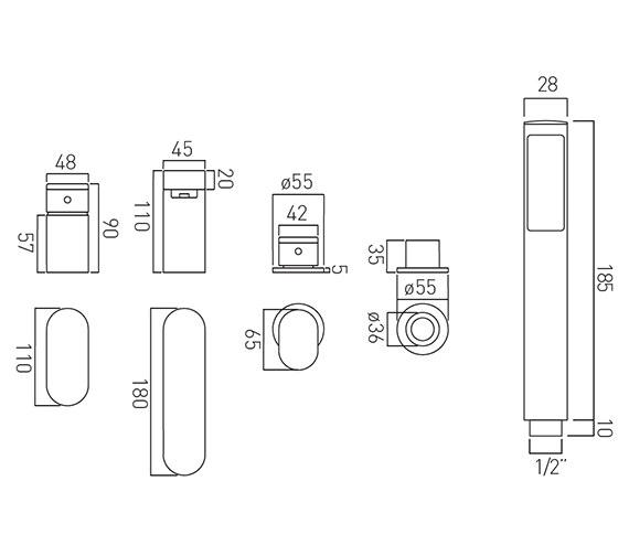 Technical drawing QS-V37109 / LIF-132-C/P