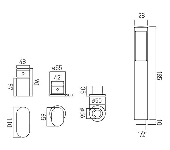 Technical drawing QS-V37110 / LIF-132/NS-C/P