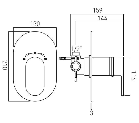 Technical drawing QS-V37113 / LIF-145T-C/P