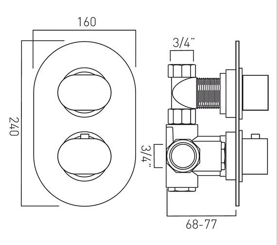 Technical drawing QS-V37115 / LIF-148C-3/4-C/P