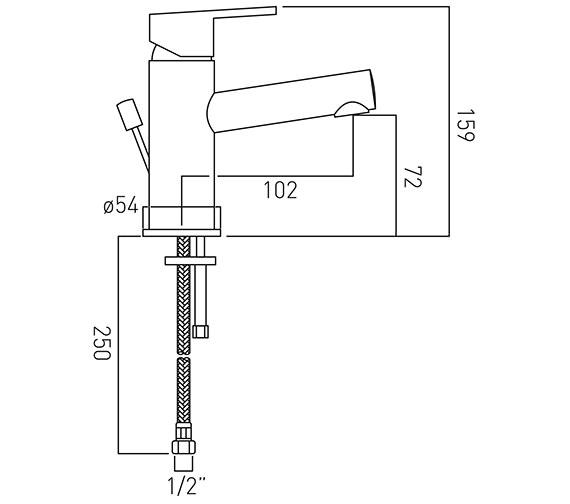 Technical drawing QS-V37131 / SEN-100-C/P