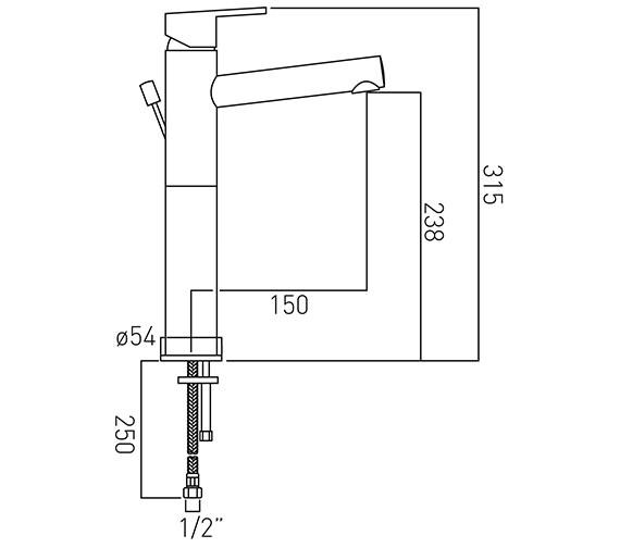 Technical drawing QS-V37133 / SEN-100E-C/P