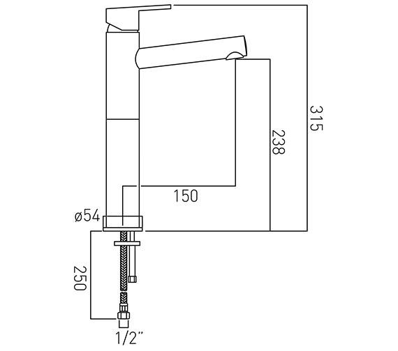Technical drawing QS-V37134 / SEN-100E/SB-C/P