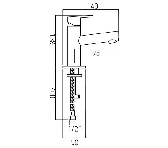 Technical drawing QS-V37135 / SEN-100M/SB-C/P