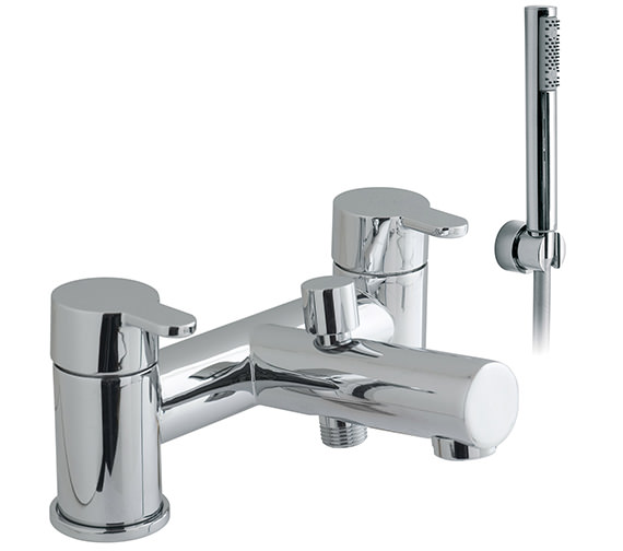 Vado Sense 2 Hole Deck Mounted Bath Shower Mixer Tap With Kit - SEN-130+K