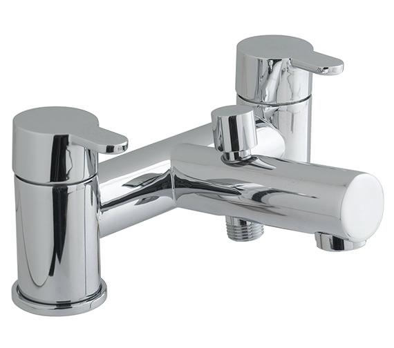 Vado Sense Deck Mounted 2 Hole Bath Shower Mixer Tap - SEN-130