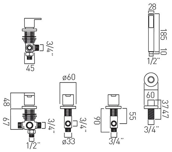 Technical drawing QS-V37147 / SEN-135/NS-C/P