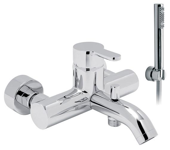 Vado Sense Wall Mounted Exposed Bath Shower Mixer With Kit - SEN-123+K
