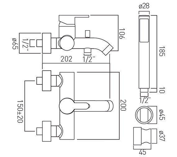 Technical drawing QS-V37151 / SEN-123+K-C/P