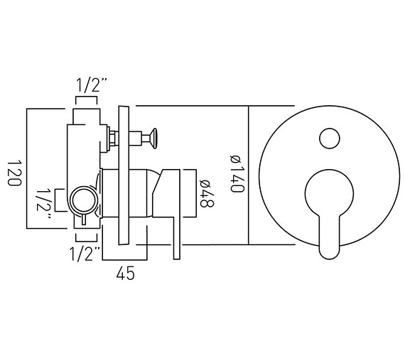 Technical drawing QS-V37154 / SEN-147A-C/P