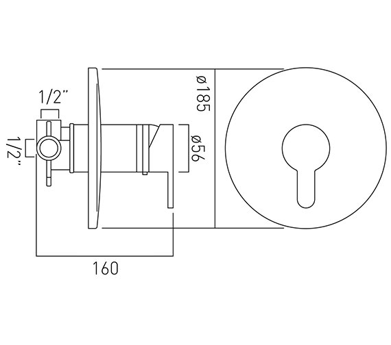 Technical drawing QS-V37155 / SEN-145T-C/P