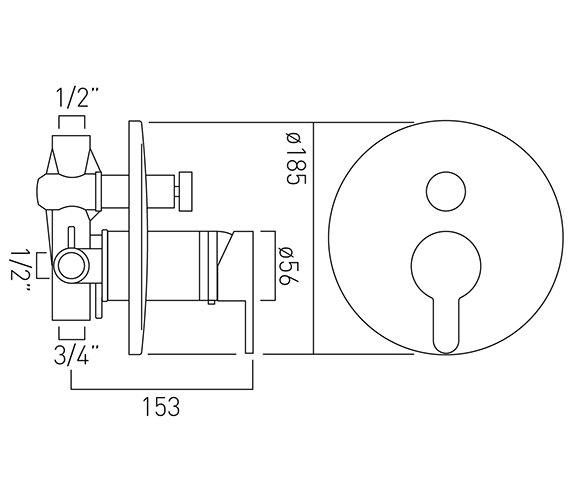 Technical drawing QS-V37156 / SEN-147T-C/P