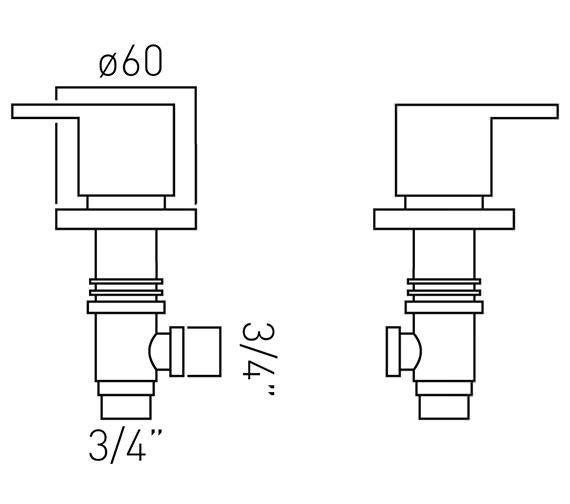 Technical drawing QS-V37160 / SEN-142/PR-3/4-C/P
