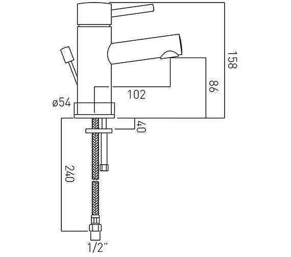 Technical drawing QS-V37168 / ZOO-100-C/P