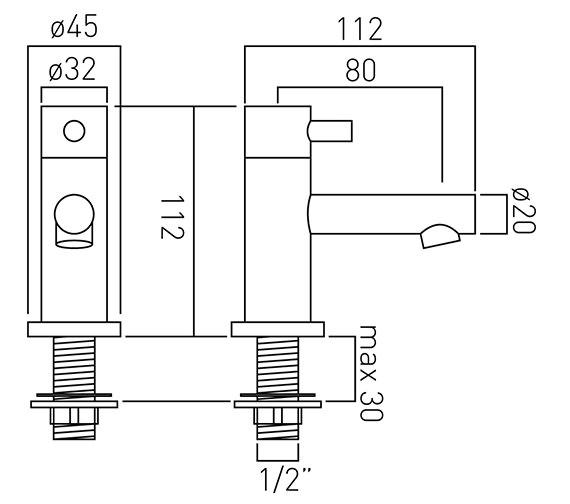 Technical drawing QS-V37173 / ZOO-106-C/P