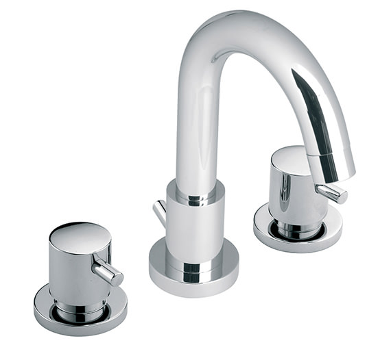 Vado Zoo 3 Hole Deck Mounted Basin Mixer Tap With Pop-Up Waste