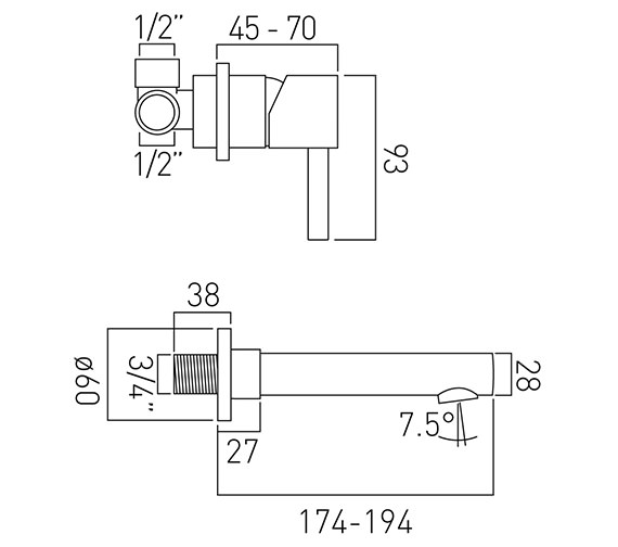 Technical drawing QS-V37175 / ZOO-109S/A-C/P