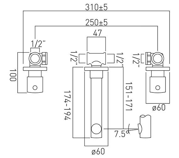 Technical drawing QS-V37176 / ZOO-109-C/P