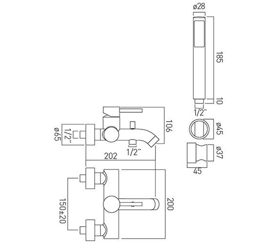 Technical drawing QS-V37179 / ZOO-123+K-C/P