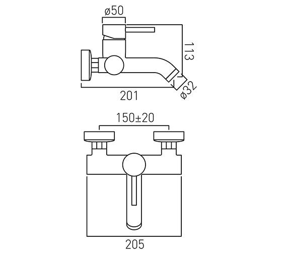 Technical drawing QS-V37180 / ZOO-138-C/P