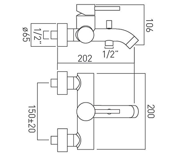 Technical drawing QS-V37181 / ZOO-123-C/P