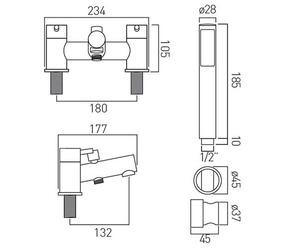 Technical drawing QS-V37187 / ZOO-130+K-C/P