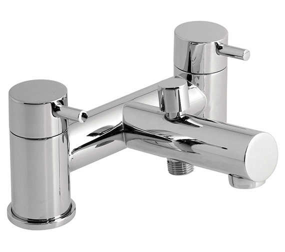 Vado Zoo Deck Mounted 2 Hole Bath Shower Mixer Tap - ZOO-130-C-P
