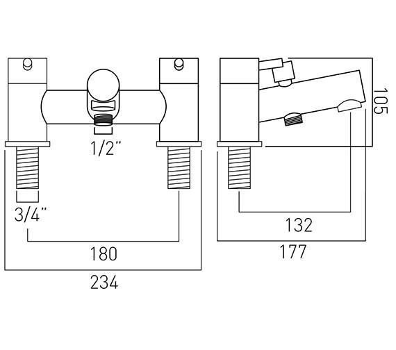 Technical drawing QS-V37188 / ZOO-130-C/P