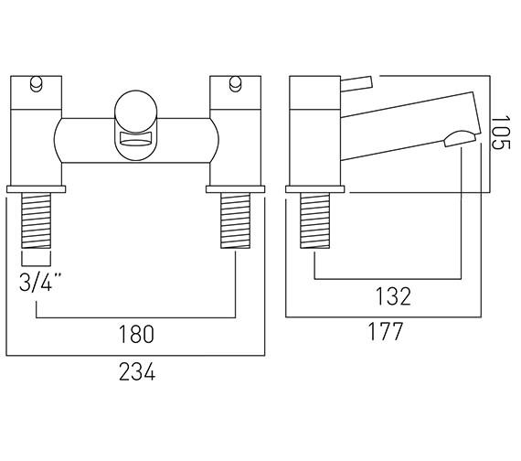Technical drawing QS-V37189 / ZOO-137-C/P
