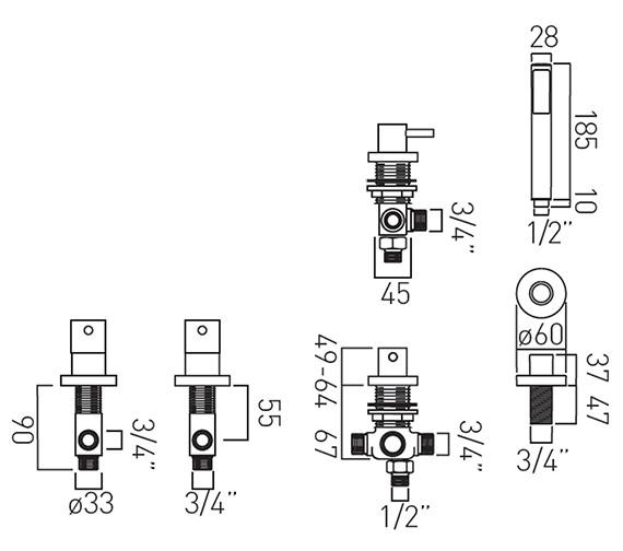 Technical drawing QS-V37193 / ZOO-135/NS-3/4-C/P