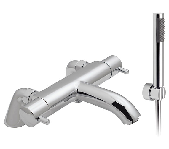 Vado Celsius Pillar Mounted Thermostatic Bath Shower Mixer Tap With Kit