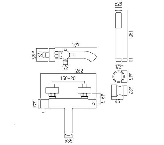 Technical drawing QS-V37199 / CEL-123T+K-C/P
