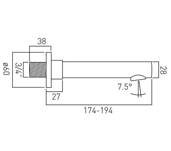 Technical drawing QS-V37202 / ZOO-140-C/P