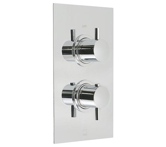 Vado Celsius 2 Outlet 2 Handle Thermostatic Shower Valve - CEL-148B-2-SQ