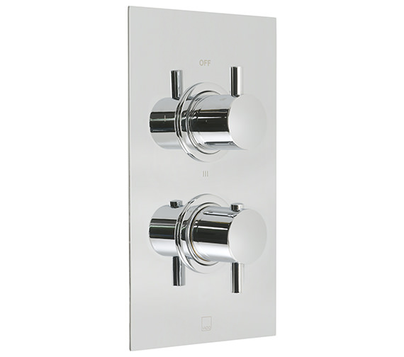 Vado Celsius 3 Outlet 2 Handle Thermostatic Shower Valve - CEL-148B-3-SQ