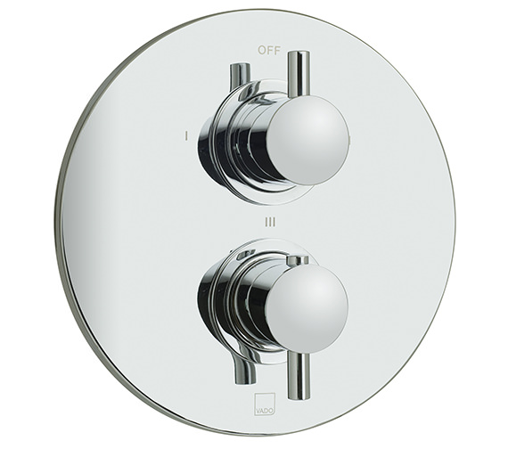 Vado Celsius Concealed 3 Outlet 2 Handle Thermostatic Shower Valve