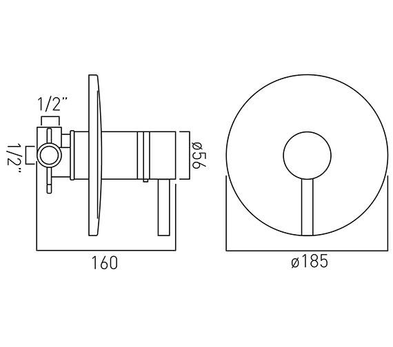 Technical drawing QS-V37211 / ZOO-145T-C/P