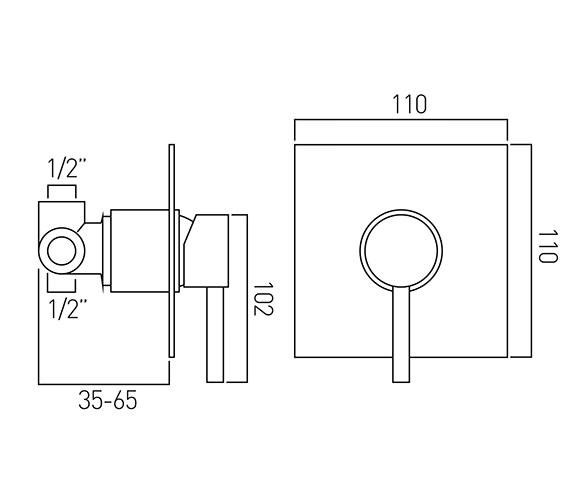 Technical drawing QS-V37216 / ZOO-145A/SQ-C/P