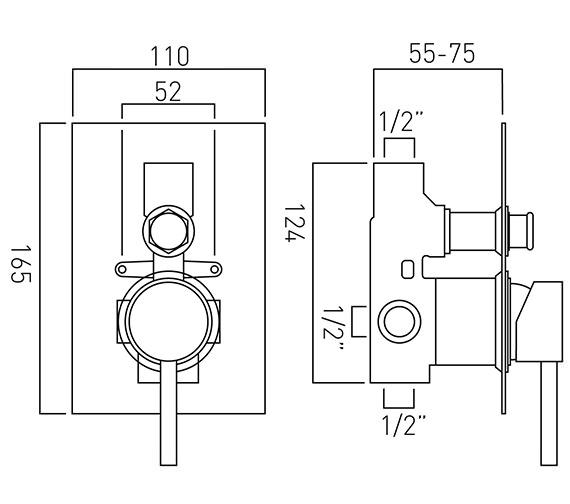 Technical drawing QS-V37218 / ZOO-147A/SQ-C/P