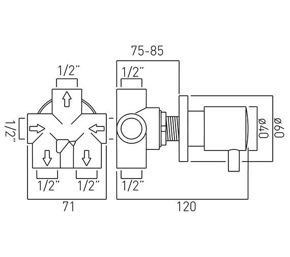 Technical drawing QS-V37219 / ZOO-144/3-C/P