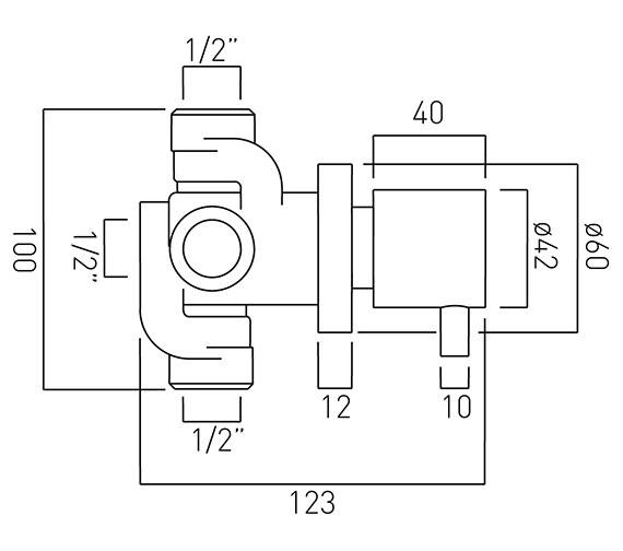Technical drawing QS-V37221 / ZOO-144/2-C/P