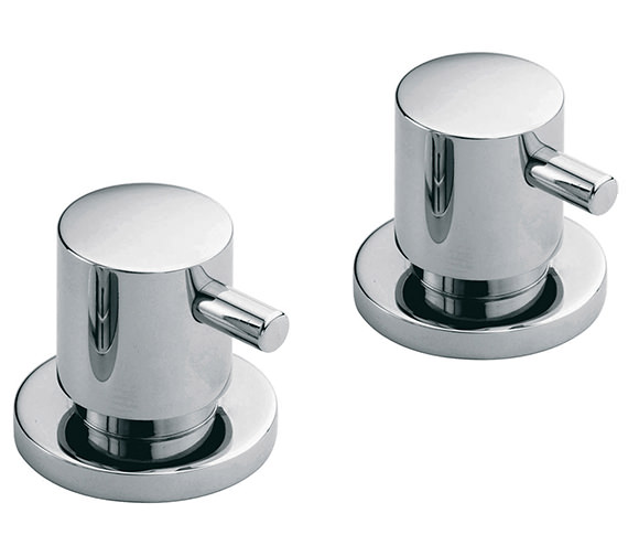 Zoo Three Forth Inch Deck Mounted Stop Valves Pair - ZOO-142-PR-3-4